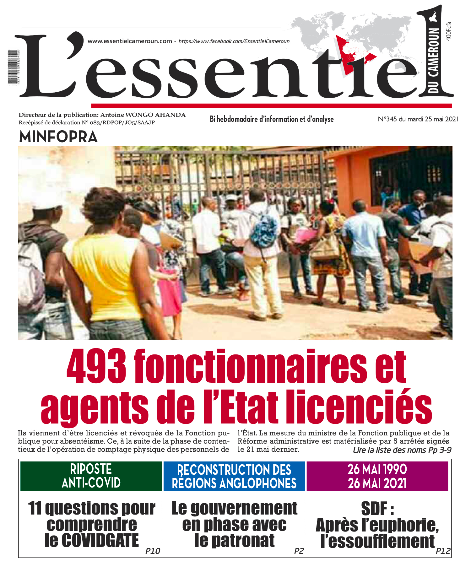 Cover L'Essentiel du Cameroun - 345
