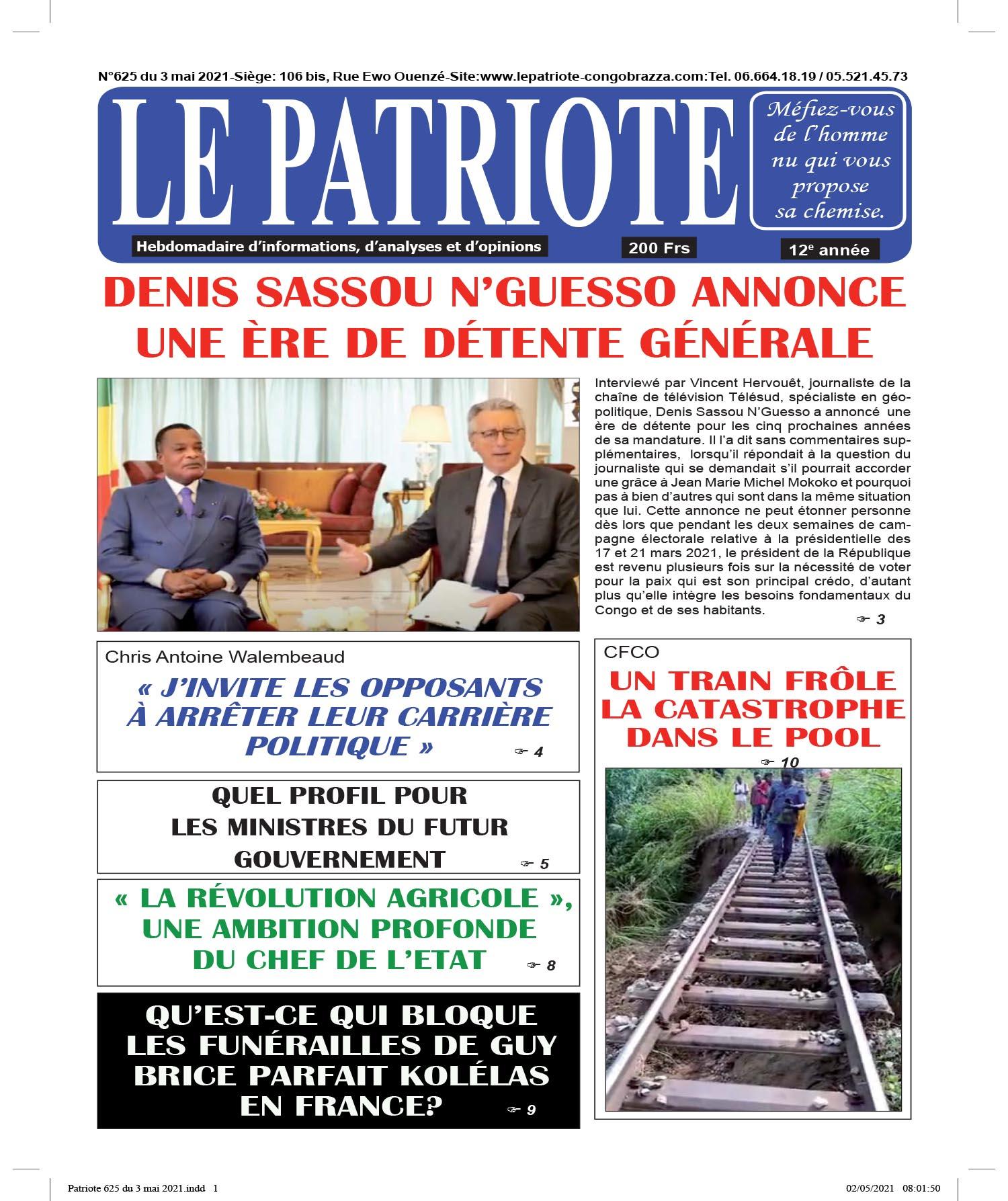 Cover Le Patriote - 625