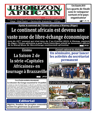 Cover L'horizon Africain - 16