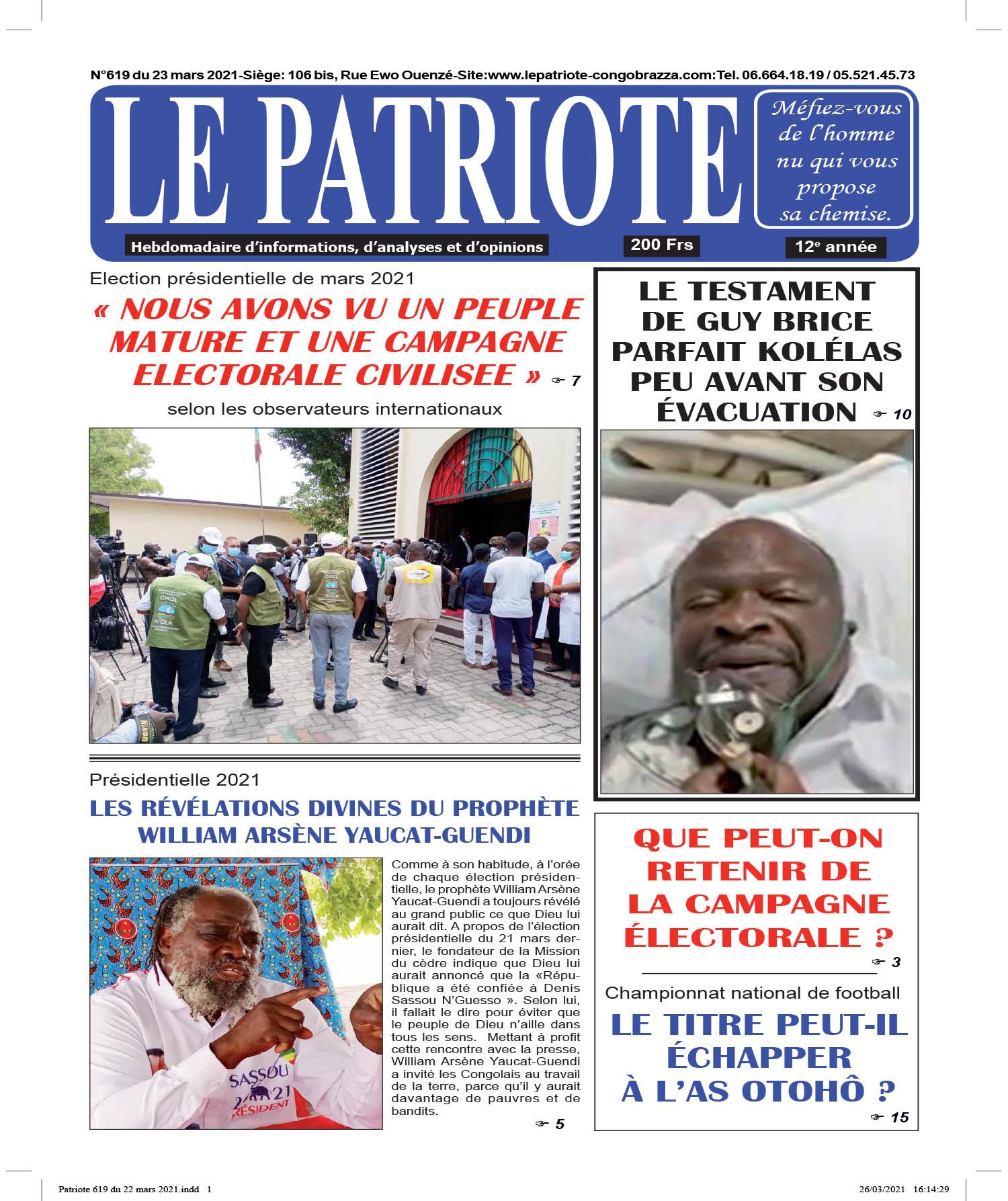 Cover Le Patriote - 619