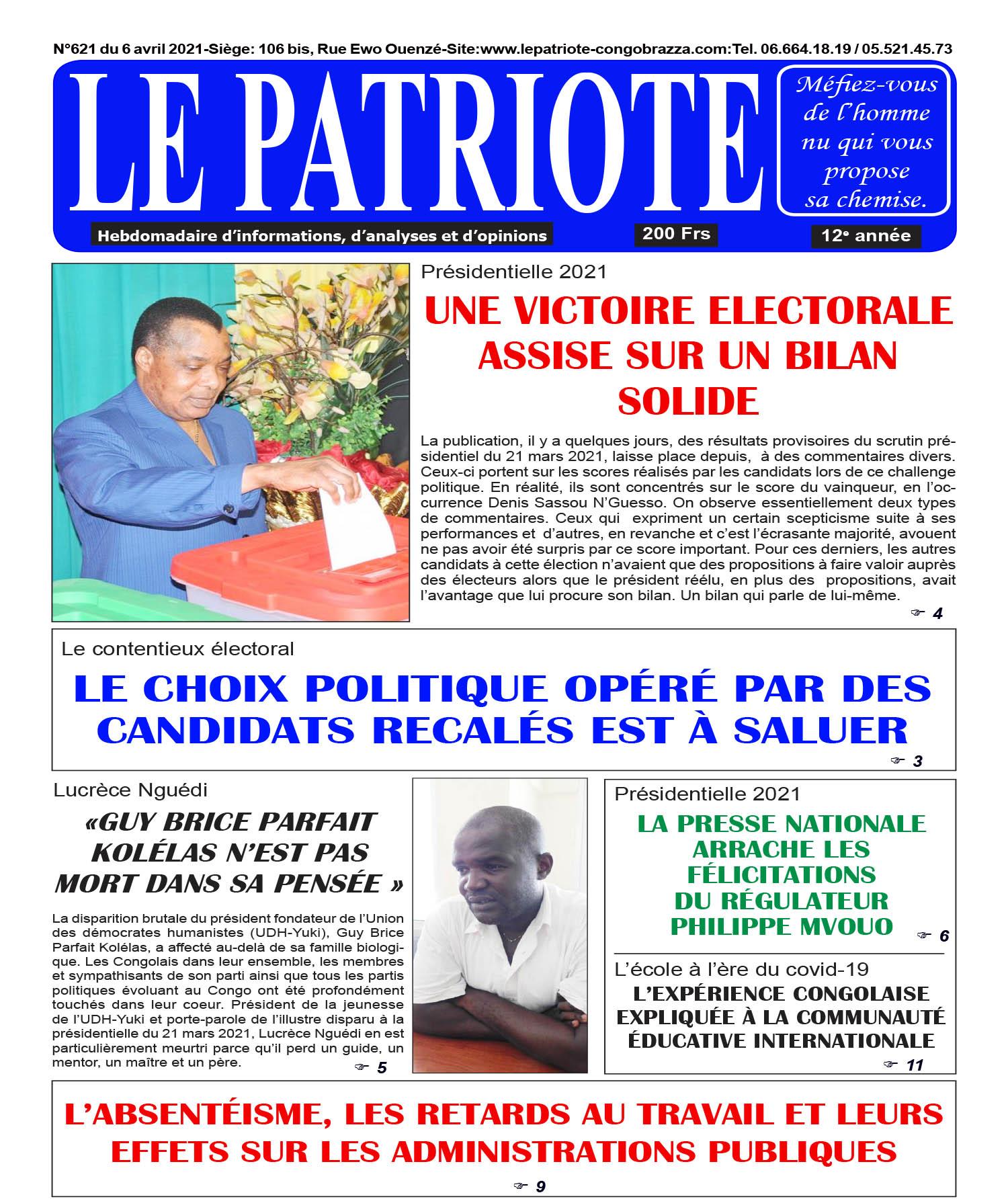 Cover Le Patriote - 621