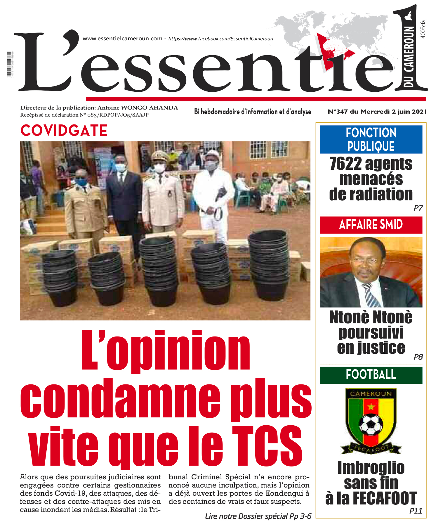 Cover L'Essentiel du Cameroun - 346