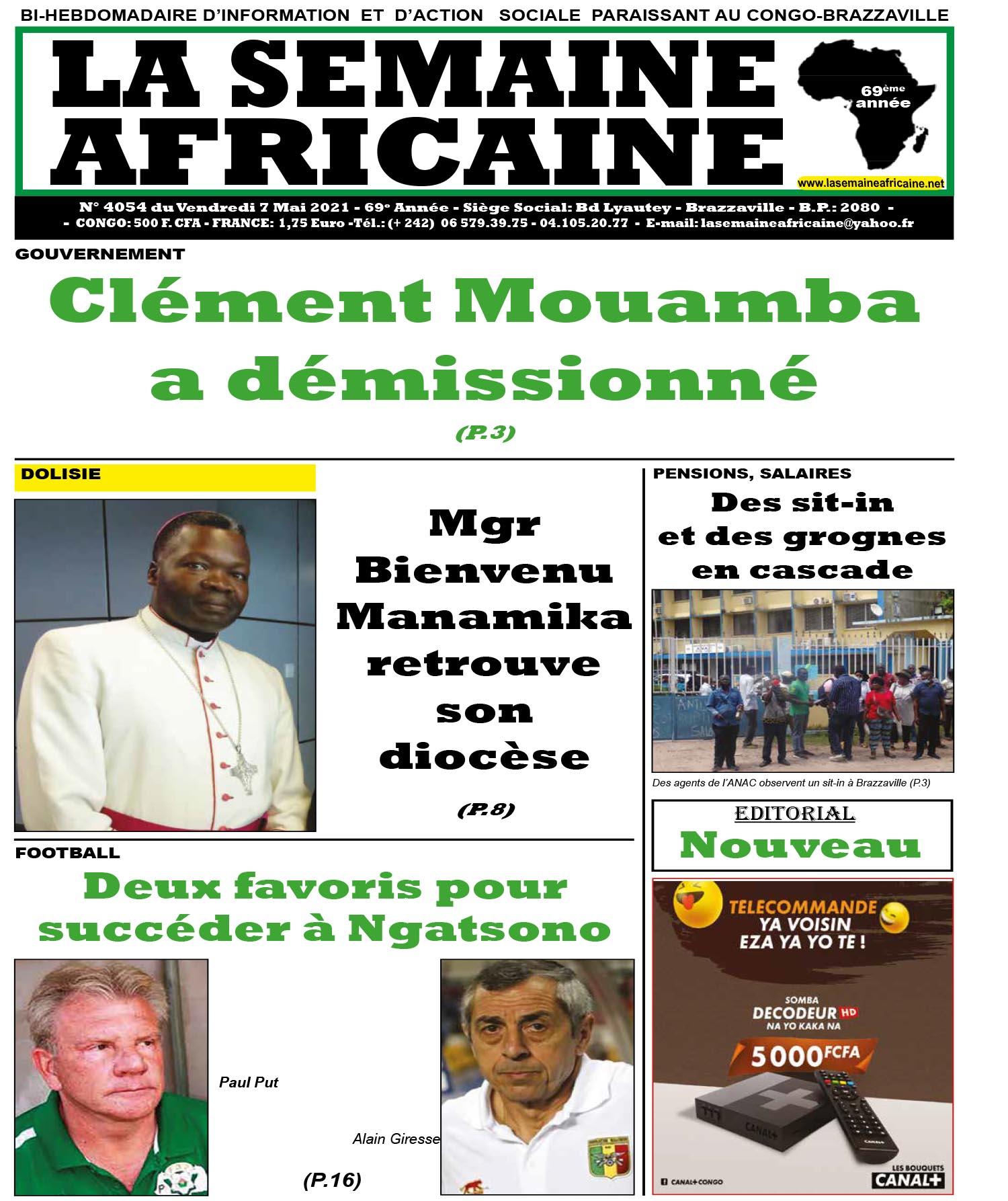 Cover La Semaine Africaine - 4054