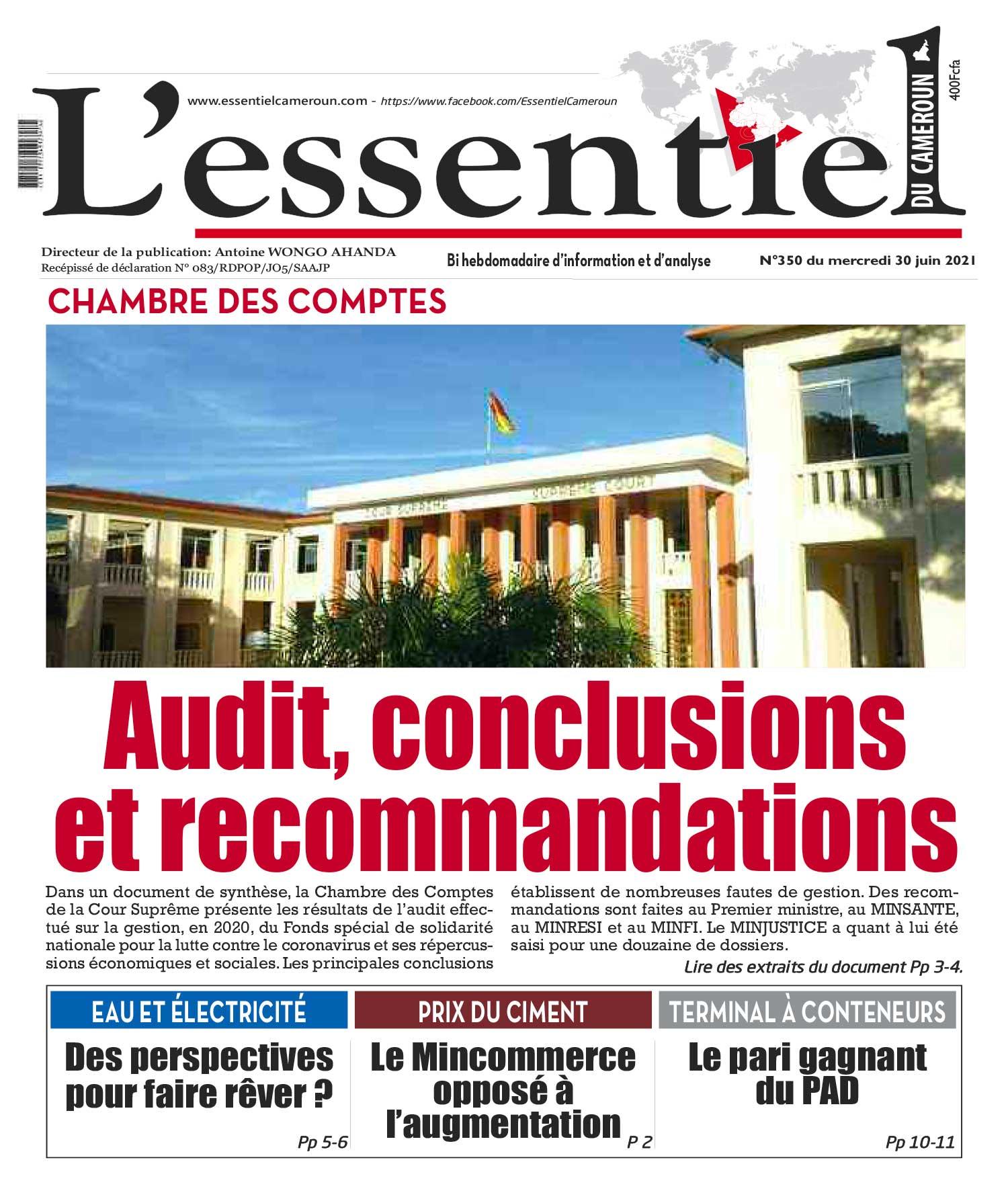 Cover L'Essentiel du Cameroun - 350