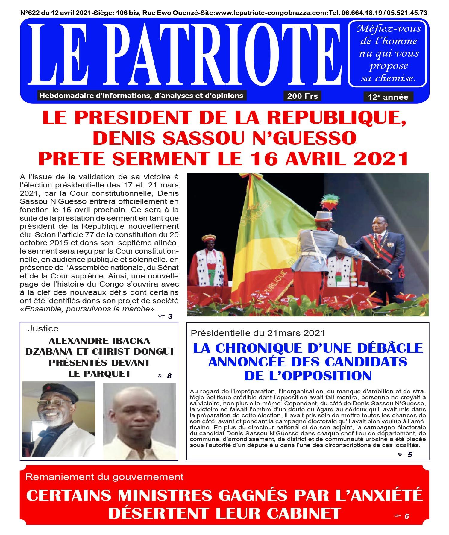 Cover Le Patriote - 622