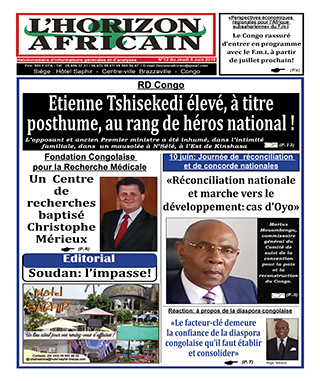 Cover L'horizon Africain - 12