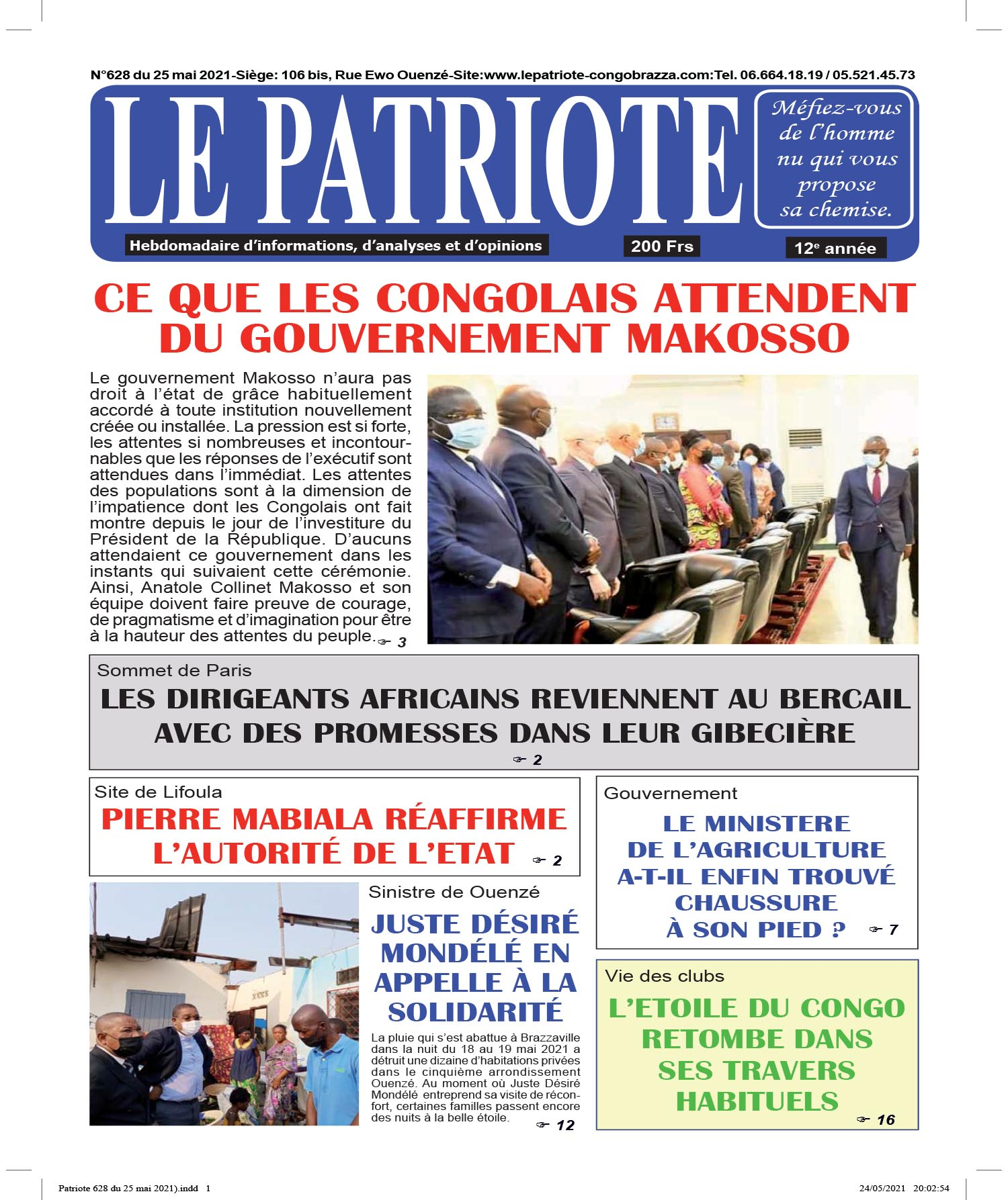Cover Le Patriote - 628