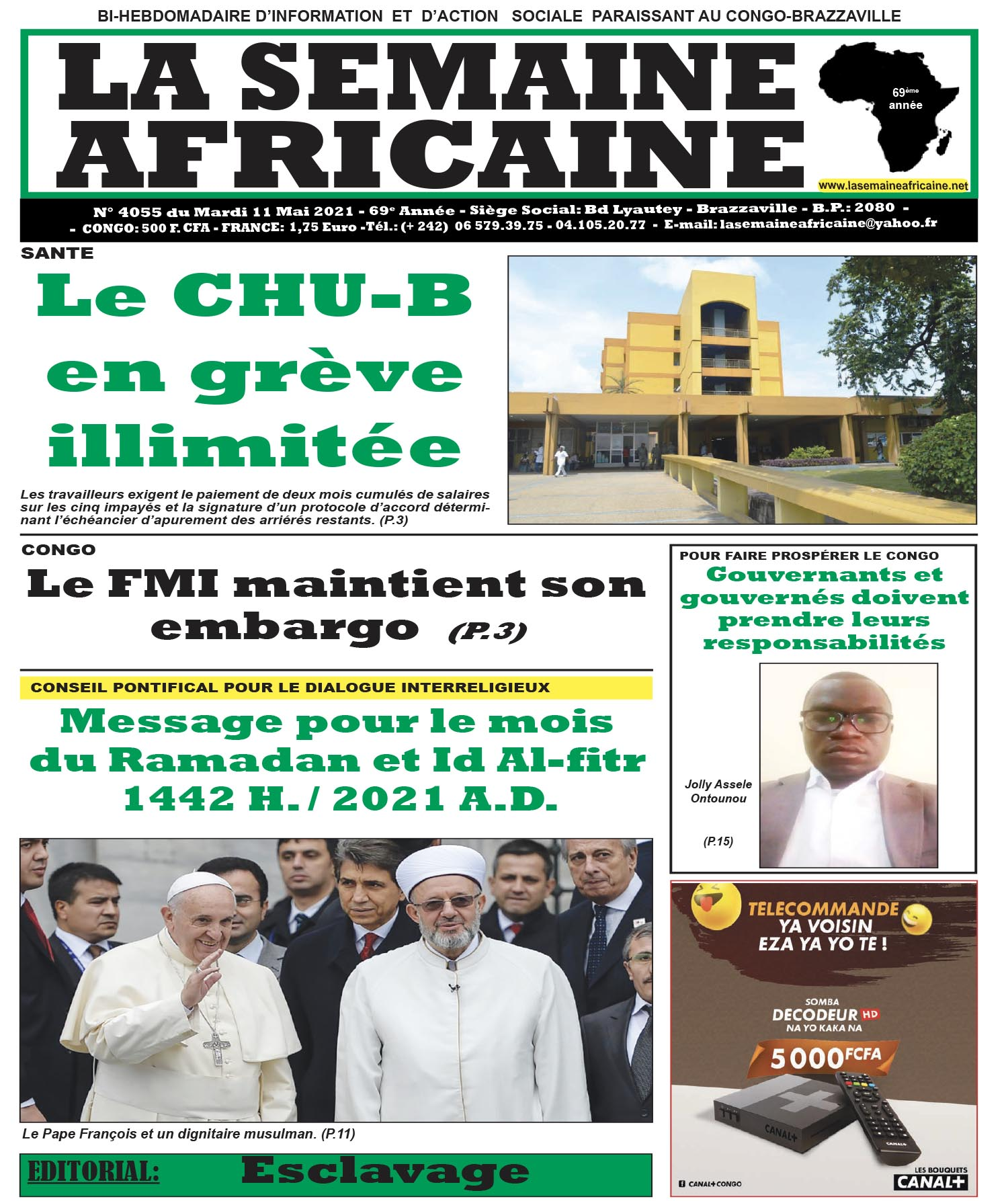 Cover La Semaine Africaine - 4055